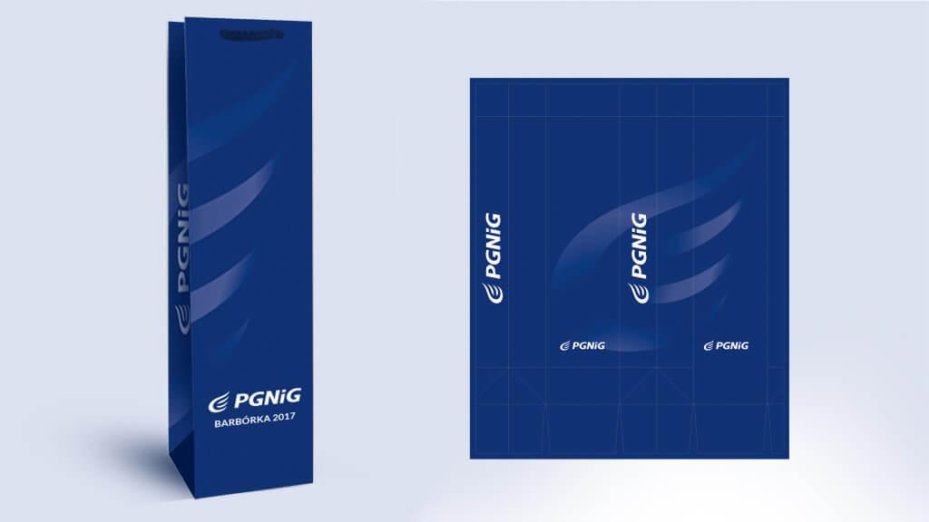 PGNiG - Torebka na wino, DTP i projekt