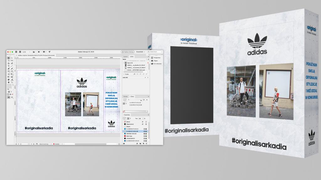 Adidas - Fotobudka, DTP i projekt