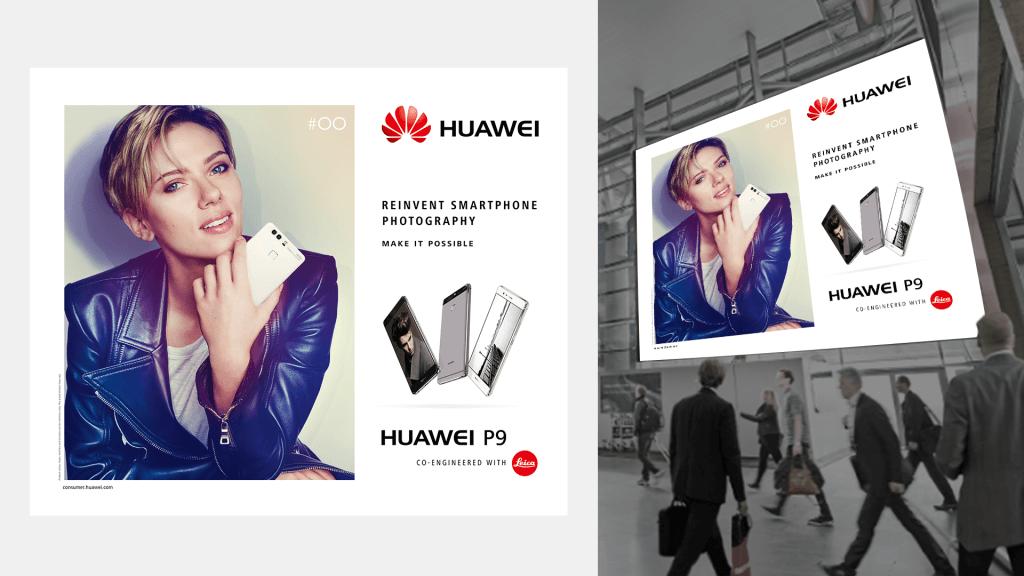 Huawei - P9, DTP dla lotniska w Olso