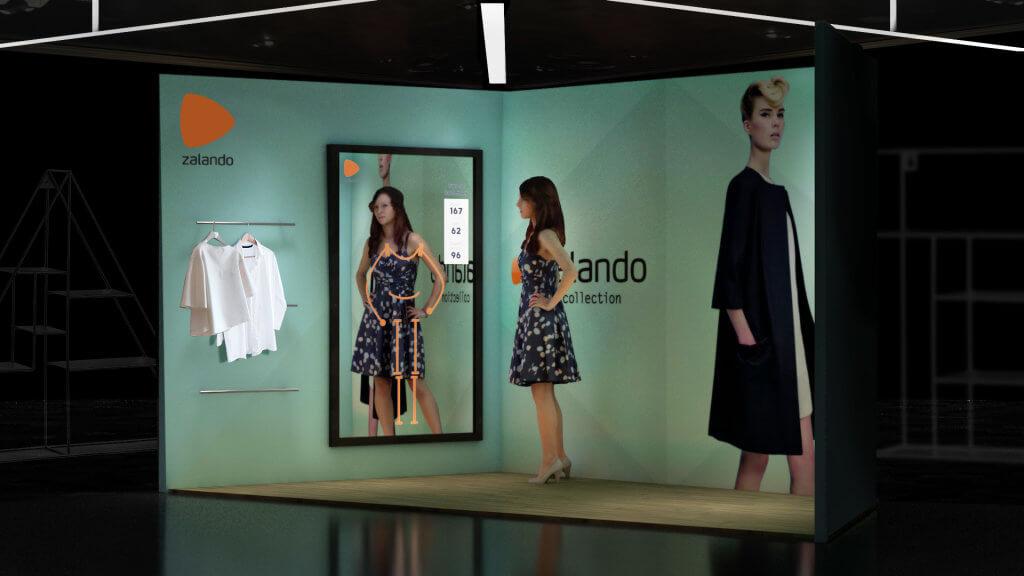Zalando - wiz. ekranu interaktywnego z funkcją lustra