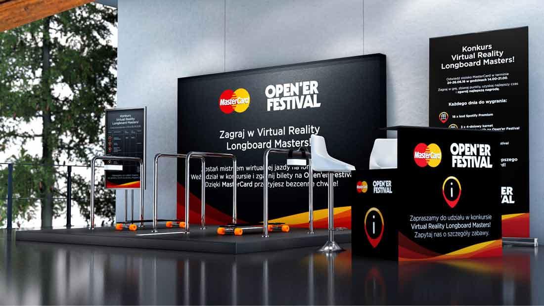 MasterCard - Strefa promocyjna Longboard VR Open'er Festival